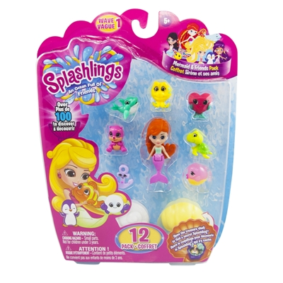 Splashlings® Mermaid & Friends 12 pack