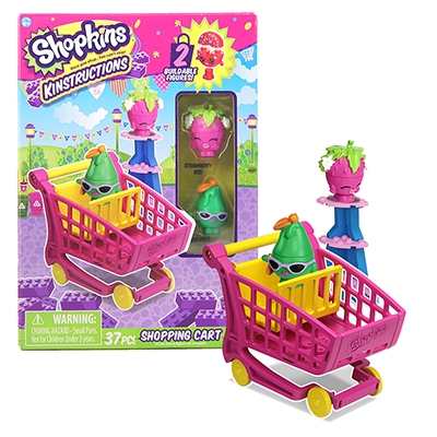 Shopkins™ Kinstructions Shopping Cart - Strawberry Kiss & Posh Pear