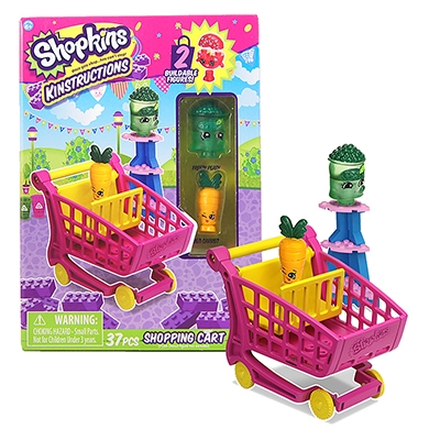 Shopkins™ Kinstructions Shopping Cart - Freezy Peasy & Wild Carrot