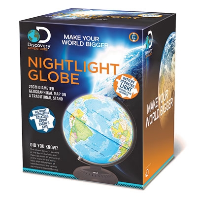 Discovery Adventures Night Light 20cm Illuminated Globe