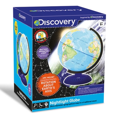 Discovery Nightlight 20cm Illuminated Globe