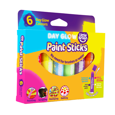 Paint Sticks Day Glow Colours 6 pack