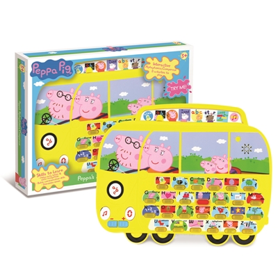Alphaphonics Campervan Peppa Pig Early Learning Toys